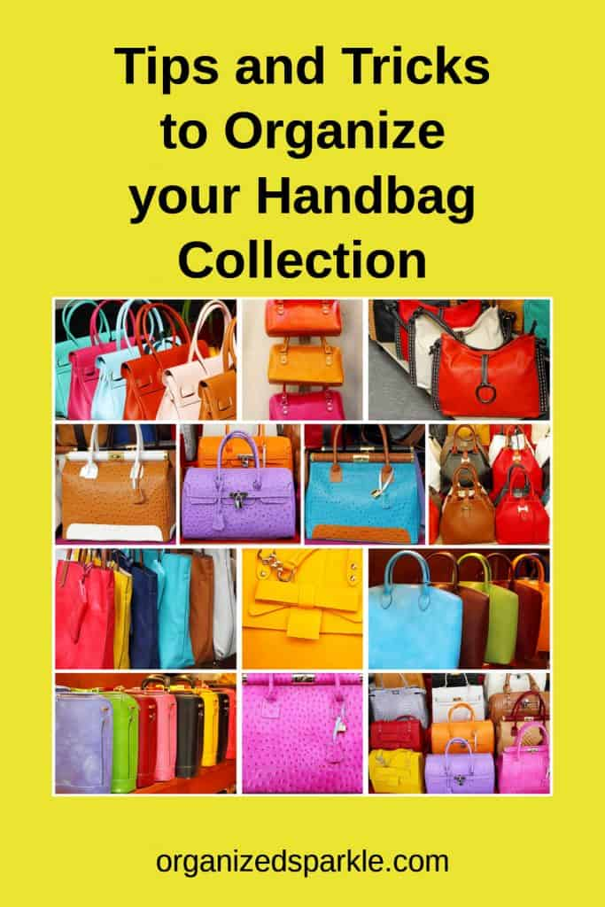 how to organize bags in a small space
