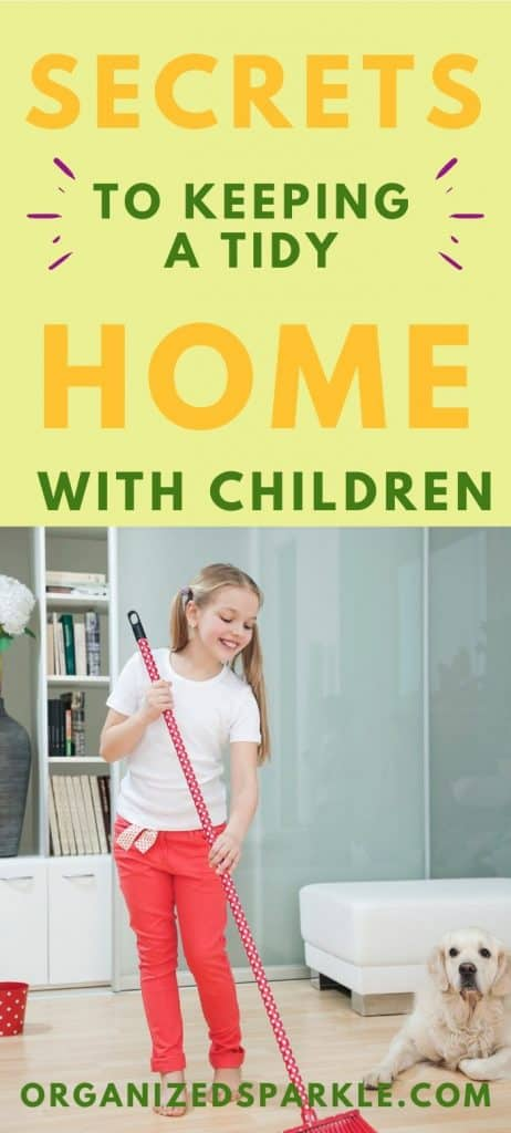 how to keep a tidy house with children
