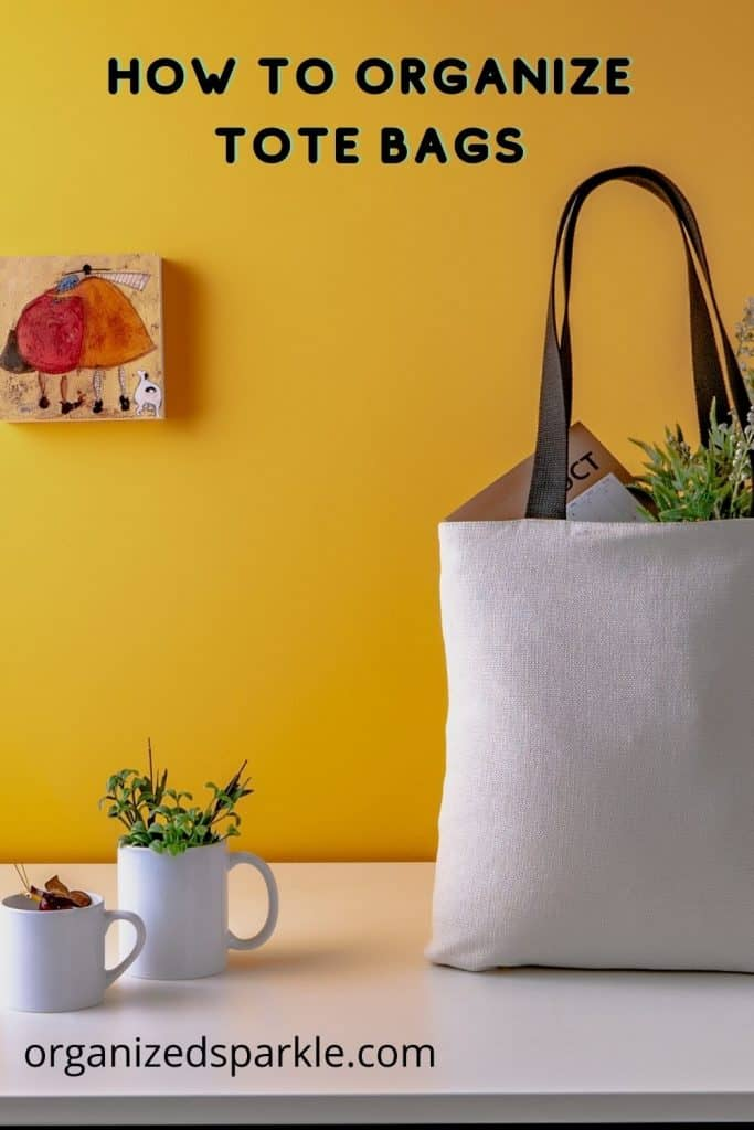 how to organize tote bags