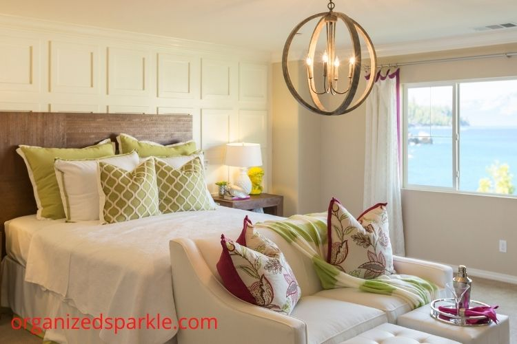 pictures of master bedrooms with chandelier lighting