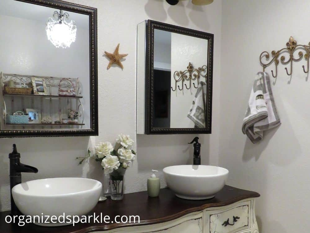 pictures of bathroom with vanities and mirrors