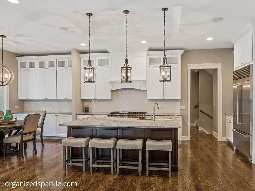 Traditional Style Island lights are the perfect accent for any kitchen