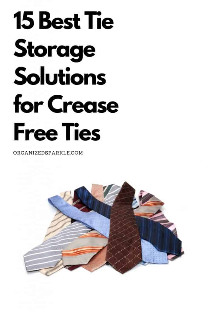 solutions for storing neckties crease free