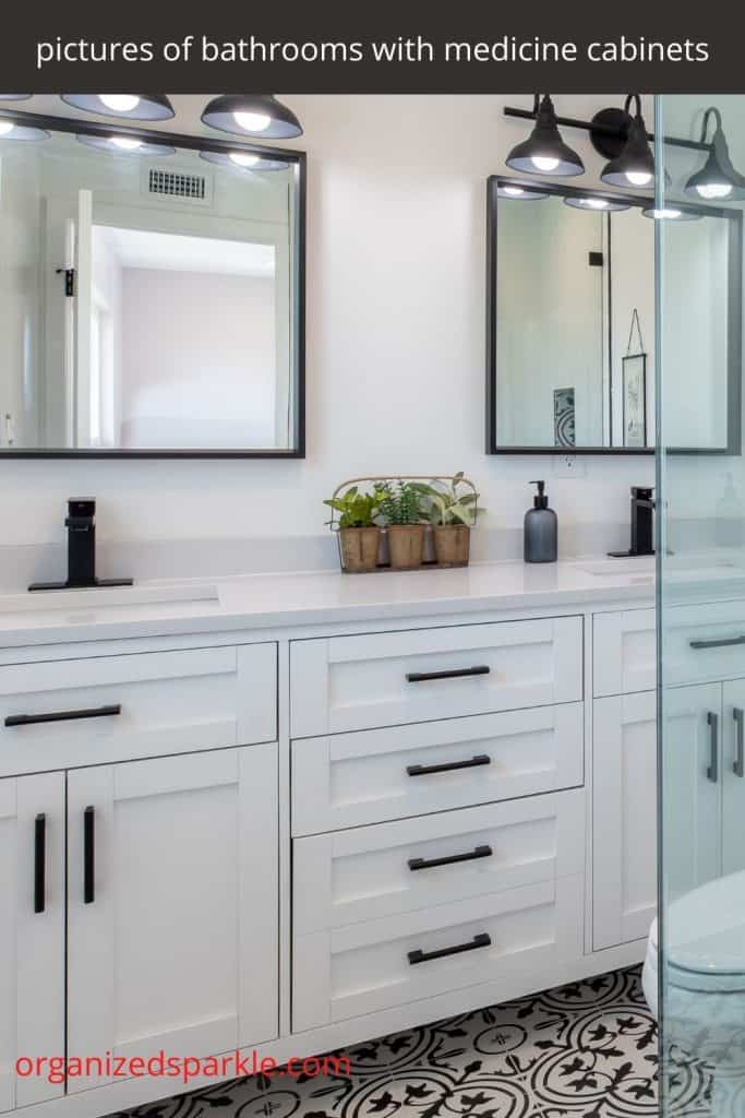 medicine cabinets for over double bathroom sinks