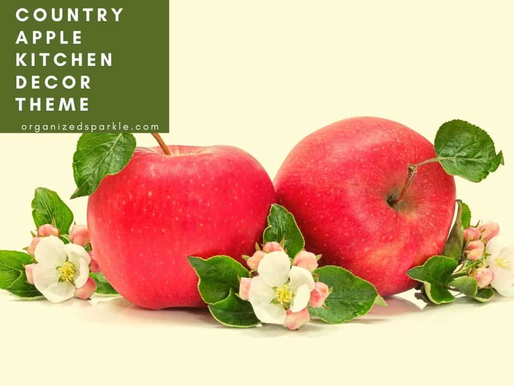red apple kitchen accessories for country kitchens