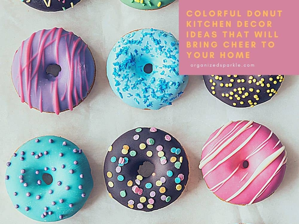 colorful kitchen donut ideas and accessories