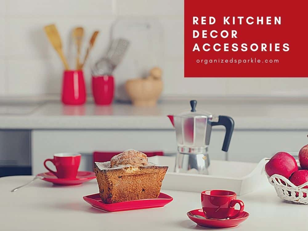 Red Kitchen Decor Accessories Examples and Pictures