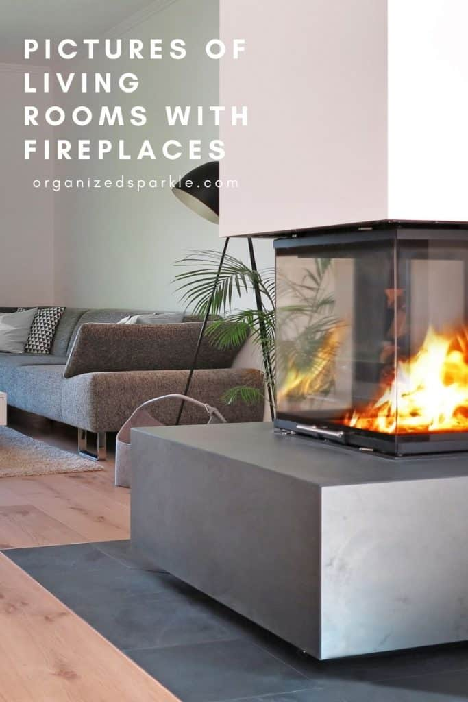 pictures of living rooms with fireplaces