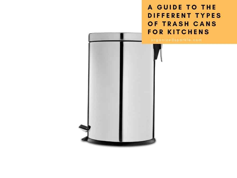 different types of kitchen garbage and trash cans