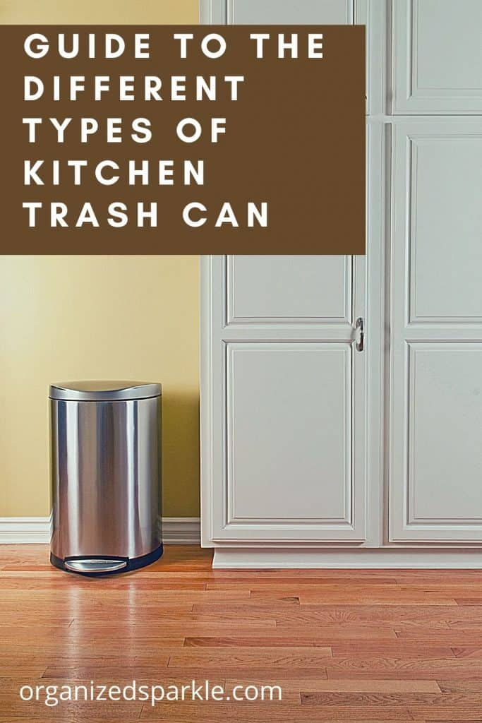 differnt types of trash can for kitchen