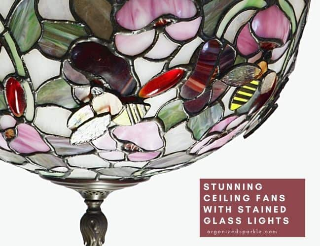 Ceiling Fans with Tiffany Glass Lights