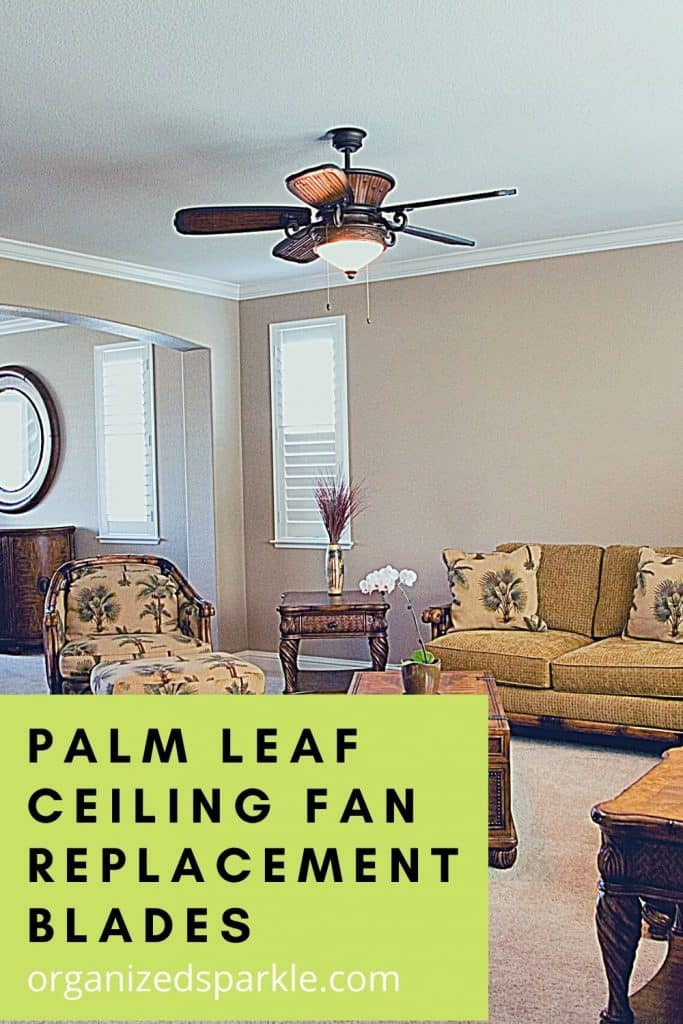 Palm Leaf Ceiling Fan Replacement Blades