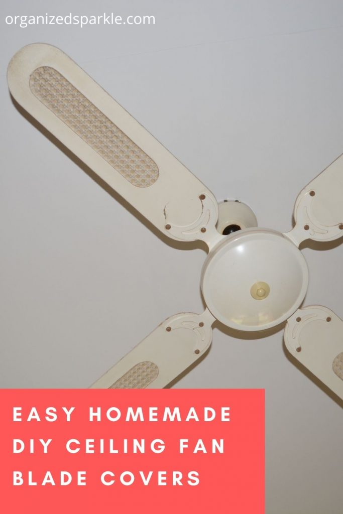 easy DIY ceiling fan blade cover projects
