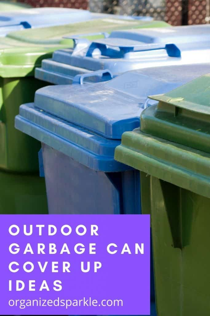 outdoor garbage can cover up