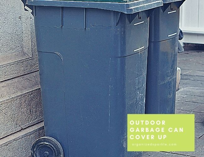 outdoor garbage can cover up ideas and projects