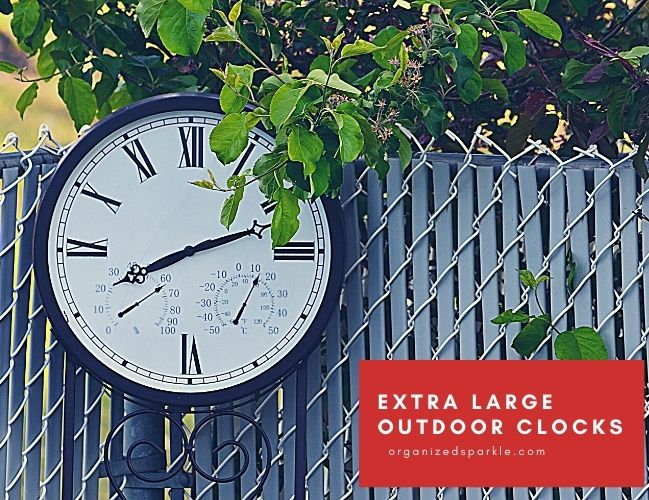 Extra Large Outdoor Clocks Waterproof and Decorative