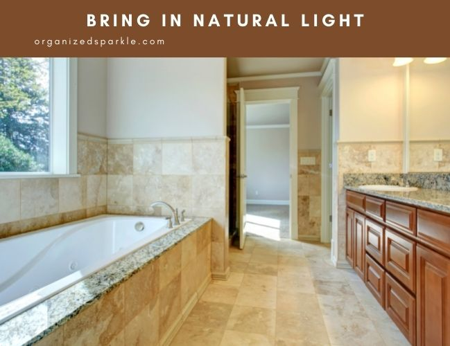 natural light is important in bathrooms