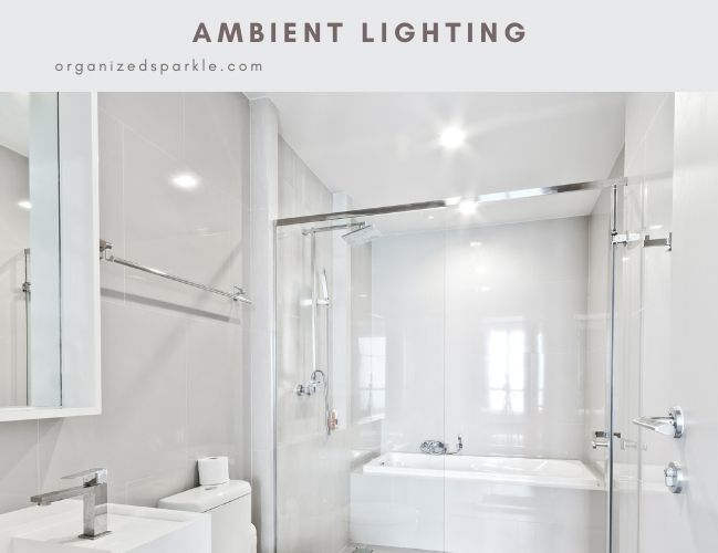 background or ambient lighting in bathrooms