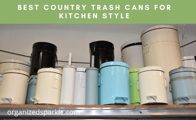rustic kitchen trash cans