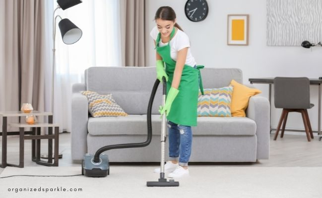 how to be productive at home cleaning