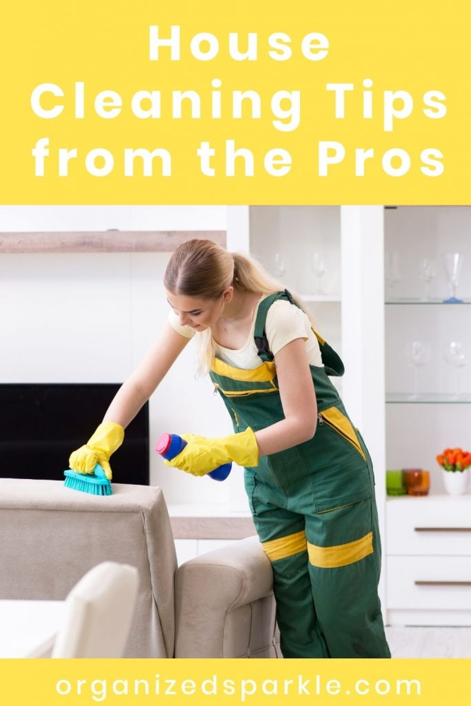 house cleaning tips from the pros