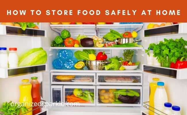tips on how to store food at home