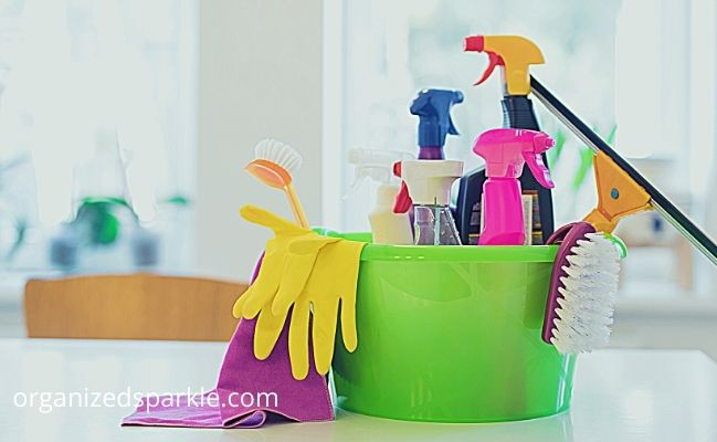 List of Bathroom Cleaning supplies