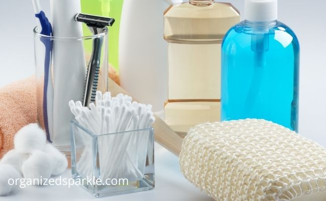 clear bathroom clutter before you clean