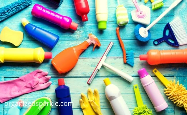keep cleaning products well stocked