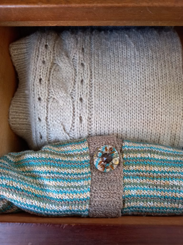 storing heavy sweaters in drawers