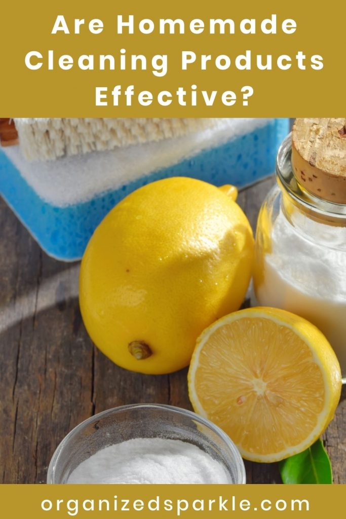 Are Homemade Cleaning Products Effective