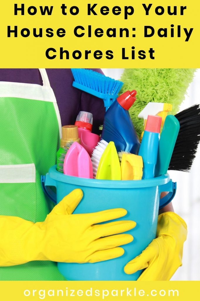 How to Keep Your House Clean Daily Chores